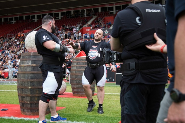 Graham Hicks and Charlie Gough,  Ultimate Strongman Summermania 2017