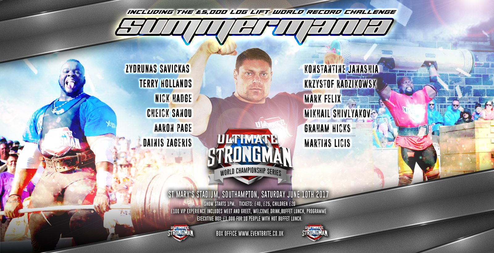 Ultimate strongman summermania june 10th southampton summermania m4hsunfo
